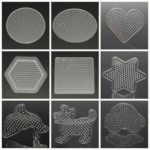 Craft-Large-Pegboards-for-Perler-Bead-Hama-Fuse-Beads-Clear-Square-Design-Board