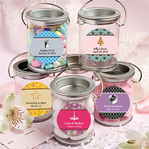 40 personalized mini paint can candy jars birthday baby party