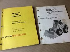 New Holland L 775 Skid Steer Loader Service Parts Catalog Amp Operators Manual