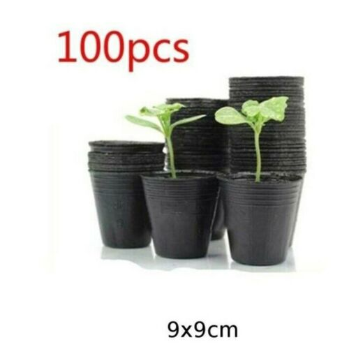 4 Size 100pcs Plastic Flower Bag Plant Nursery Flowerpot Seedlings Containers