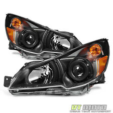 [Black Design] 2010-2014 Subaru Legacy/ Outback Headlights Headlamps Left+Right