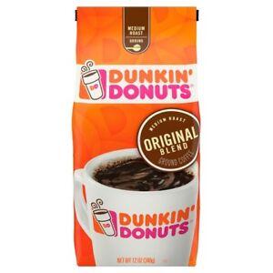 NEW-SEALED-DUNKIN-DONUTS-MEDIUM-ROAST-ORIGINAL-BLEND-GROUND-COFFEE-12-OZ