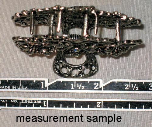 NEW SILVERTONE METAL CRYSTAL HAIR CLAW SELECT COLOR FREE SHIPPING