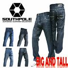 SOUTHPOLE Mens Big and Tall Jeans 4187-1044 Relaxed Fit Black sand 2126 2125