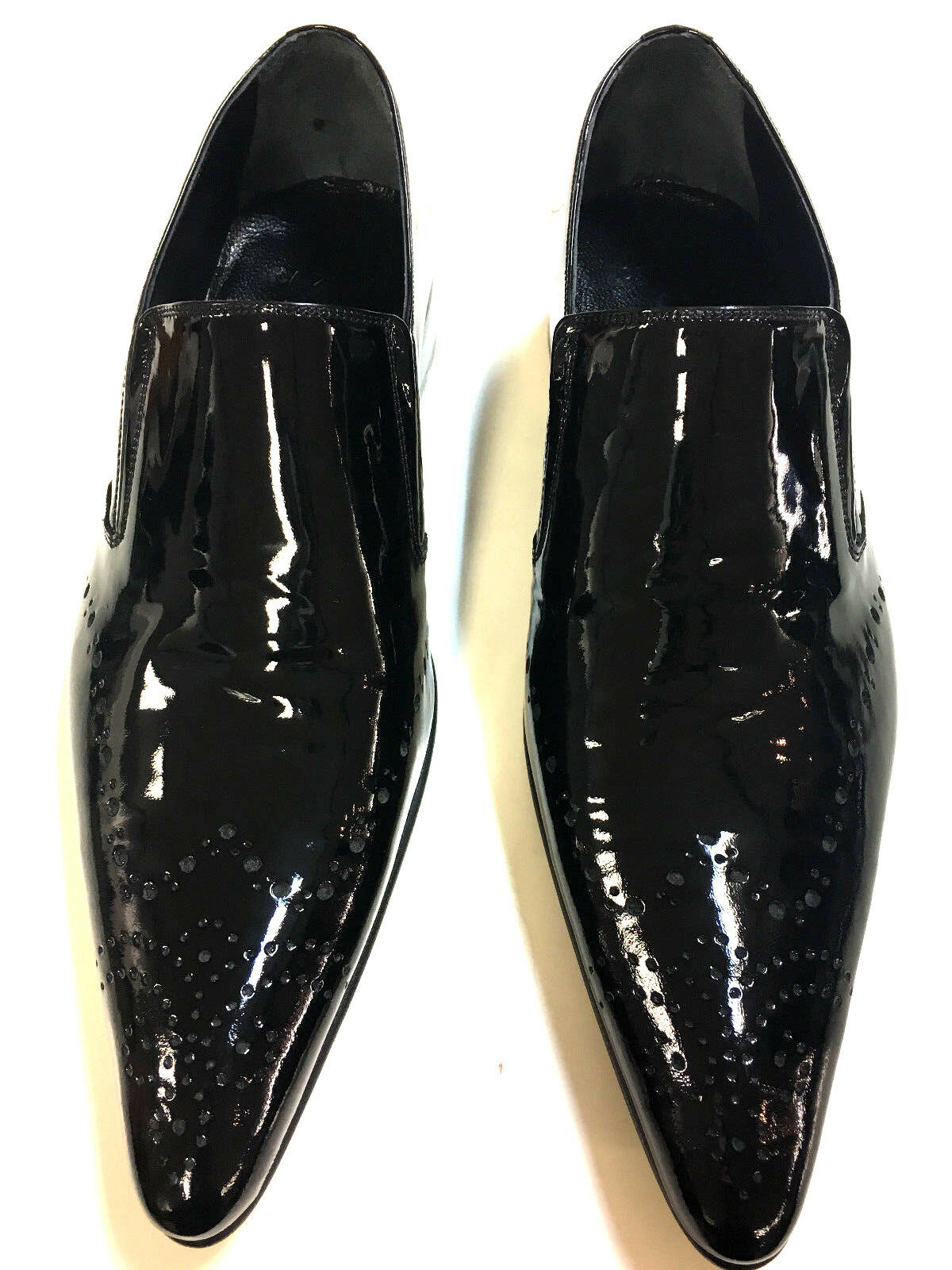 Chelsy VERNICE Designer Scarpe in pelle business party party business Slipper handmade fatto a mano 43 5308e0