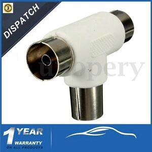 Male-to-2x-Female-Adapter-2-Way-TV-T-Splitter-Aerial-Coaxial-Cable-Connectors