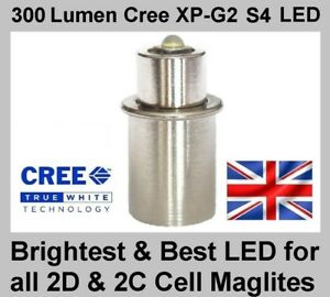 MAGLITE-LED-UPGRADE-BULB-Cree-TTS-Conversion-for-2D-amp-2C-Cell-Torch-Flashlight