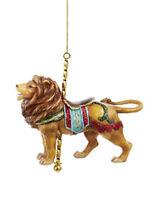 4.25 Lion with Carousel Pole and Saddle Christmas Figure Ornament Home Furnishings