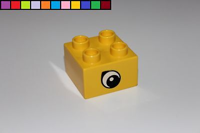 Baustein rot Lego Duplo Motivstein 2x2 4er Auge Augenstein