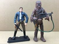 2pcs New Star Wars LEGACY Han Solo, Chewbacca & C-3PO Figures Hot Toys S447