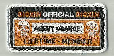 AGENT ORANGE OFFICIAL MEMBERSHIP - DIOXIN MOTORCYCLE BIKER MORALE MILITARY PATCH