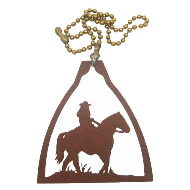 fan pull Buffalo Bison rust metal ornament