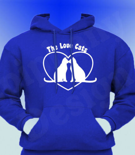 The Cure Inspired Hoody Hoodie 80/'s Robert Smith Cat T-Shirt Love Cats Hoddy