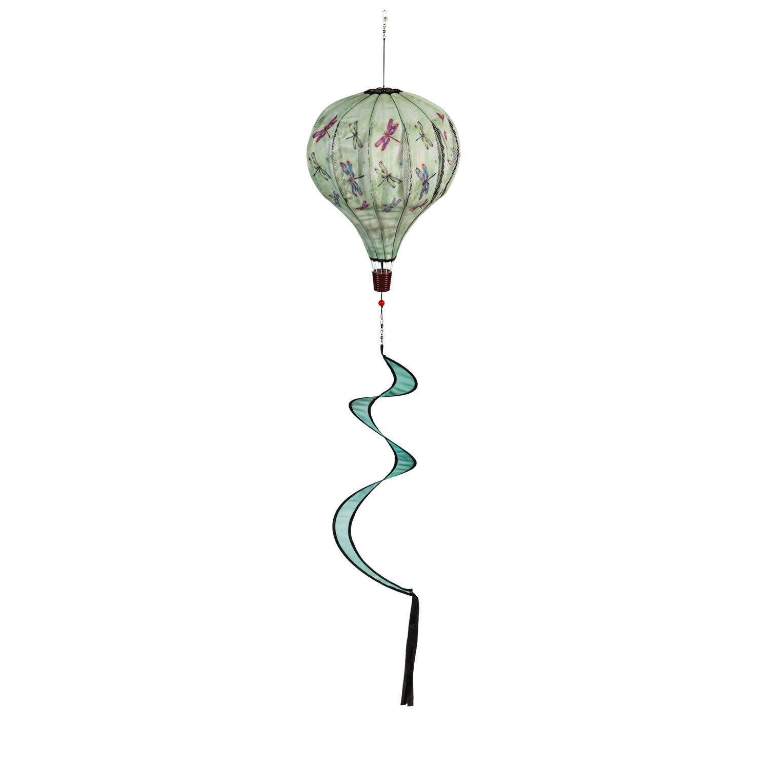 Dragonfly Wind Spinner Balloon Outdoor Hanging Decor