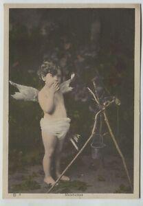 1900-era-Vintage-Photo-Print-Little-boy-with-Angel-wings-034-Meditation-034