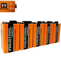 10 x Duracell Industrial 9V 6LP3146 batteries Block PP3 LR22 MN1604 6LR61 Ex2020