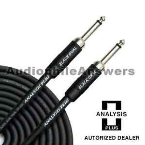 Analysis-Plus-Black-Oval-Instrument-Cable-with-Straight-Standard-Plugs-20ft