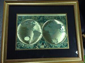 Nova totivs terrarvm orbis geographica tabvla gold foiled world map image is loading nova totivs terrarvm orbis geographica tabvla gold foiled gumiabroncs Images
