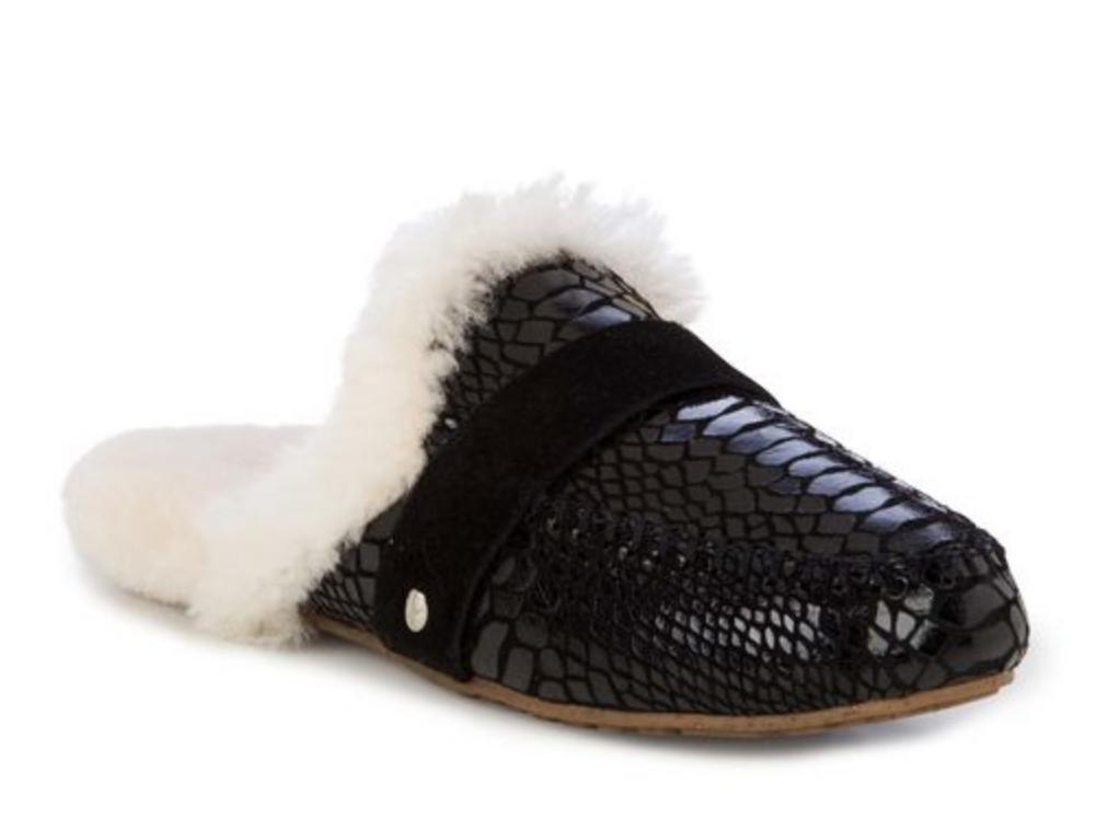 EMU Kroko Australia Mooka Pantoffel Leder Kroko EMU Lammfell bla terlik skin slipper Gr.39 cc7106
