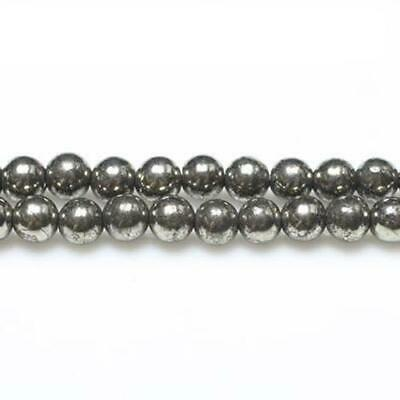 Pyrite Smooth Nugget Beads 8mm Pale Gold 40 Pcs Handcut Gemstones DIY Jewellery
