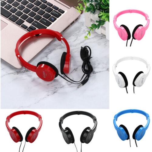 Kubite Wired Headphones On Ear Foldable Stereo Headset For Kids Earphone