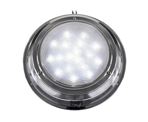 """5 ½"""" LED Stainless Steel Interior Dome Light"""