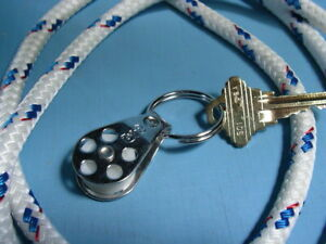Sailor's Key Ring with Pulley Block NEW