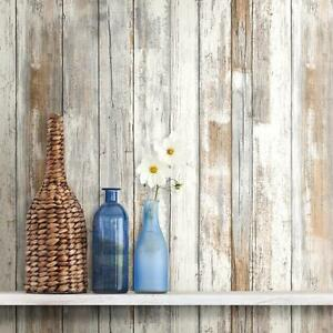 Distressed Wood Peel And Stick Wallpaper Gray Brown White