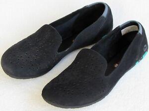 8-Merrell-Mimix-Daze-Women-Black-Perfed-Nubuck-Leather-Slip-On-Flat-Loafer-Moc