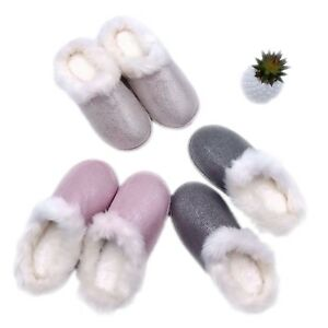 3f11dbfd171f2 Women's Comfy Fuzzy Fur Slippers Lined Memory Foam Fluffy Anti-Slip ...