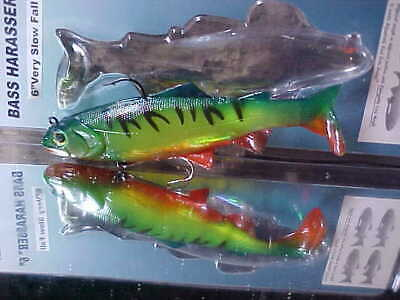"""Reaction Strike 6/"""" Very Slow Fall Bass Harasser Swimbait COLOR AS PICTURED"""