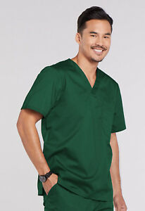 8a62a35112a Image is loading Hunter-Green-Cherokee-Scrubs-Workwear-Core-Stretch-Mens-