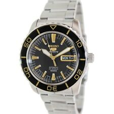 Seiko Men's 5 Automatic SNZH57K Black Stainless-Steel Self Wind Fashion Watch