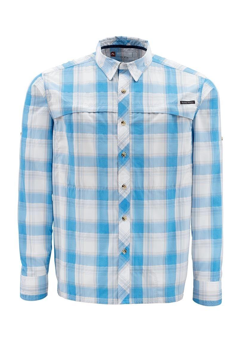 Simms STONE COLD Long Sleeve Shirt  Cornflower Plaid NEW  Closeout Größe 2XL
