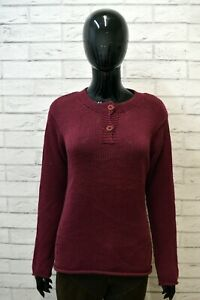 Maglione-Cardigan-TIMBERLAND-Donna-Taglia-L-Pullover-Cotone-Sweater-Rosso-Woman