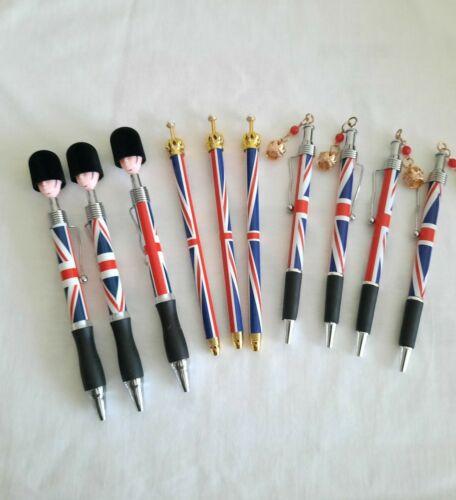 9 mix Union Jack London Icons Pictures Design Pen with Crown London Souvenir
