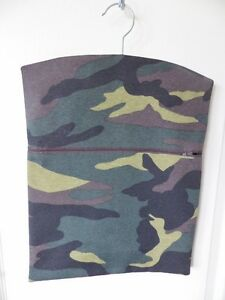 Hand-Made-Peg-Hanging-Storage-Bag-Lined-Zipped-12-034-x-16-034-CAMOUFLAGE