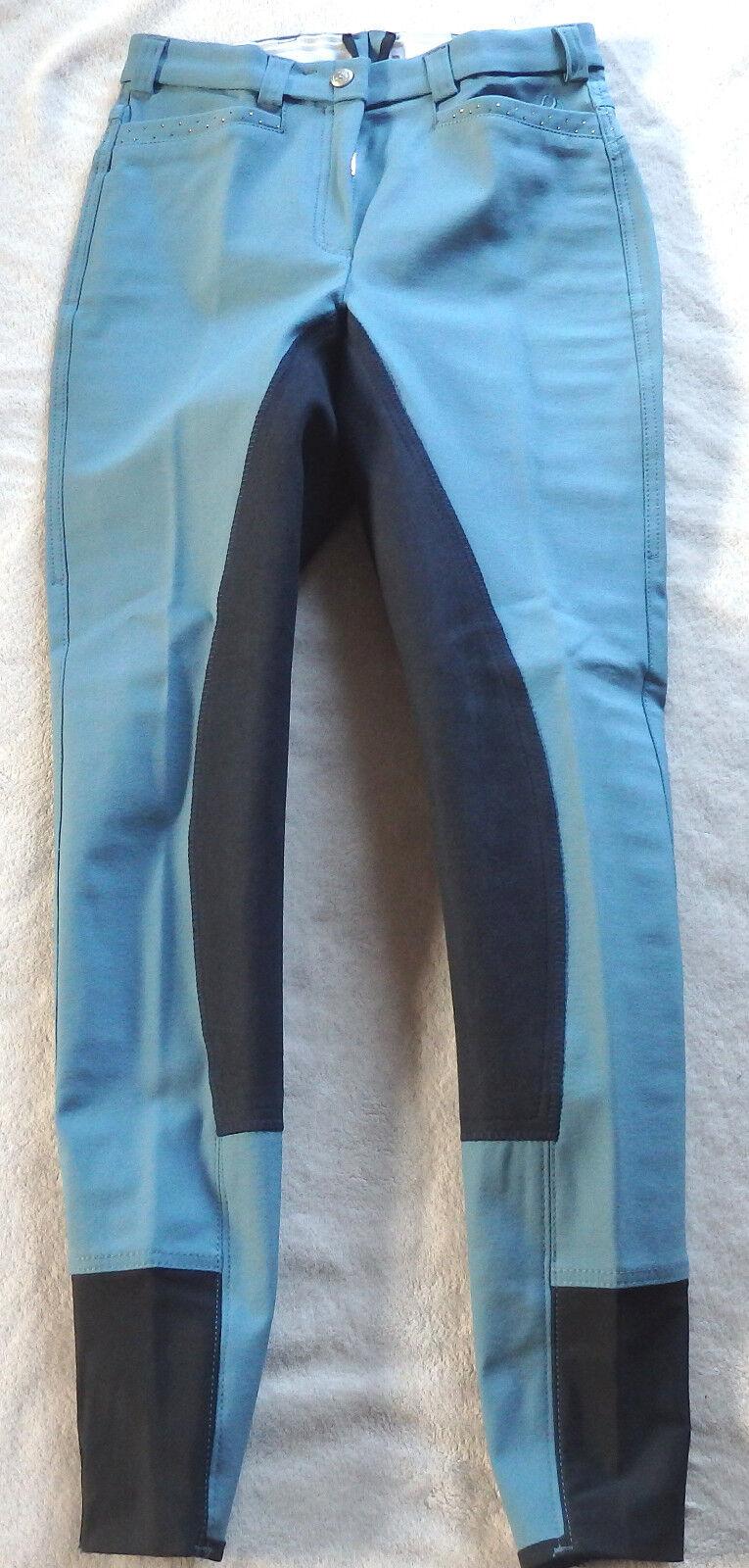 Señora reithose, 3 4 ribete de pleno, azul, baroux, brillo, PVP  (59)