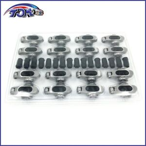 New-Small-Block-Chevy-Stainless-Steel-Full-Roller-Rockers-Arms-1-6-Ratio-7-16