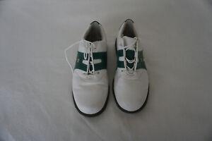 FOOTJOY-GOLF-House-Dryjoys-Damen-Schuhe-Sneaker-Golfschuhe-Gr-37-Leder-weiss-gruen