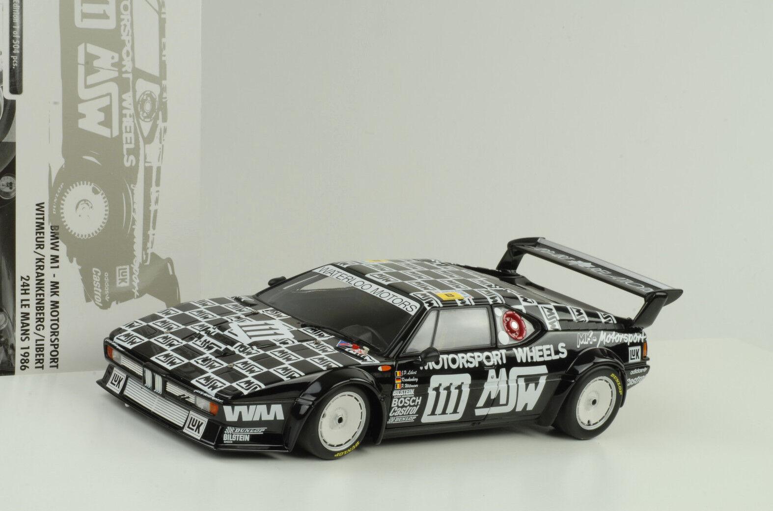 1986 BMW m1 24h Le Mans MSW Motorsport Wheels 1:18 Minichamps