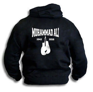 Muhammad-Ali-Gym-Style-Boxing-Gloves-Mens-Womens-Hoody-Hooded-Top-Sm-2XL