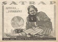 W2670 Articoli Fotografici SATRAP - Pubblicità 1925 - Old advertising