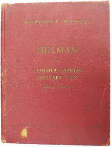 The-Hillman-Minx-amp-Commer-Rootes-Servicio-Expreso-Manual-de-taller-Impreso-1955
