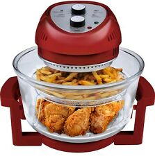 Big Boss Air Fryer 1300-Watt, 16-Quart, Red - As Seen on TV, Brand New!