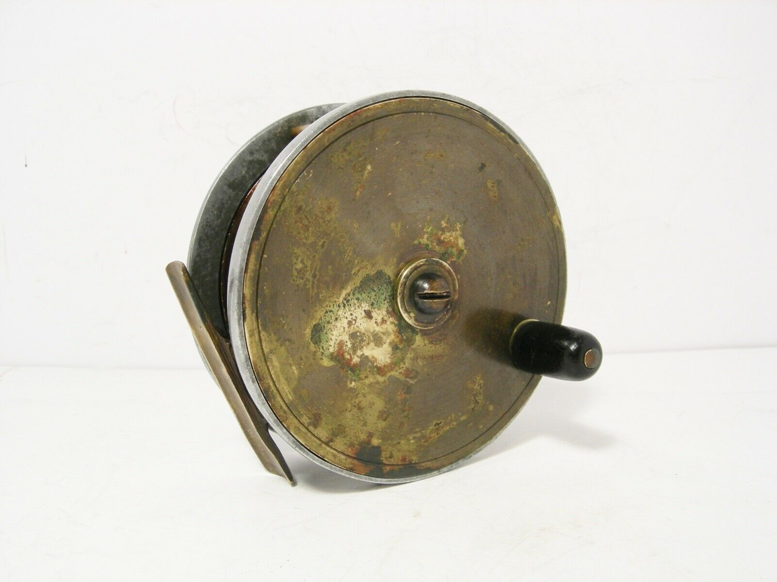Vintage Antique 3½   Platewind Brass Alloy Combination Fly Fishing Reel  welcome to order