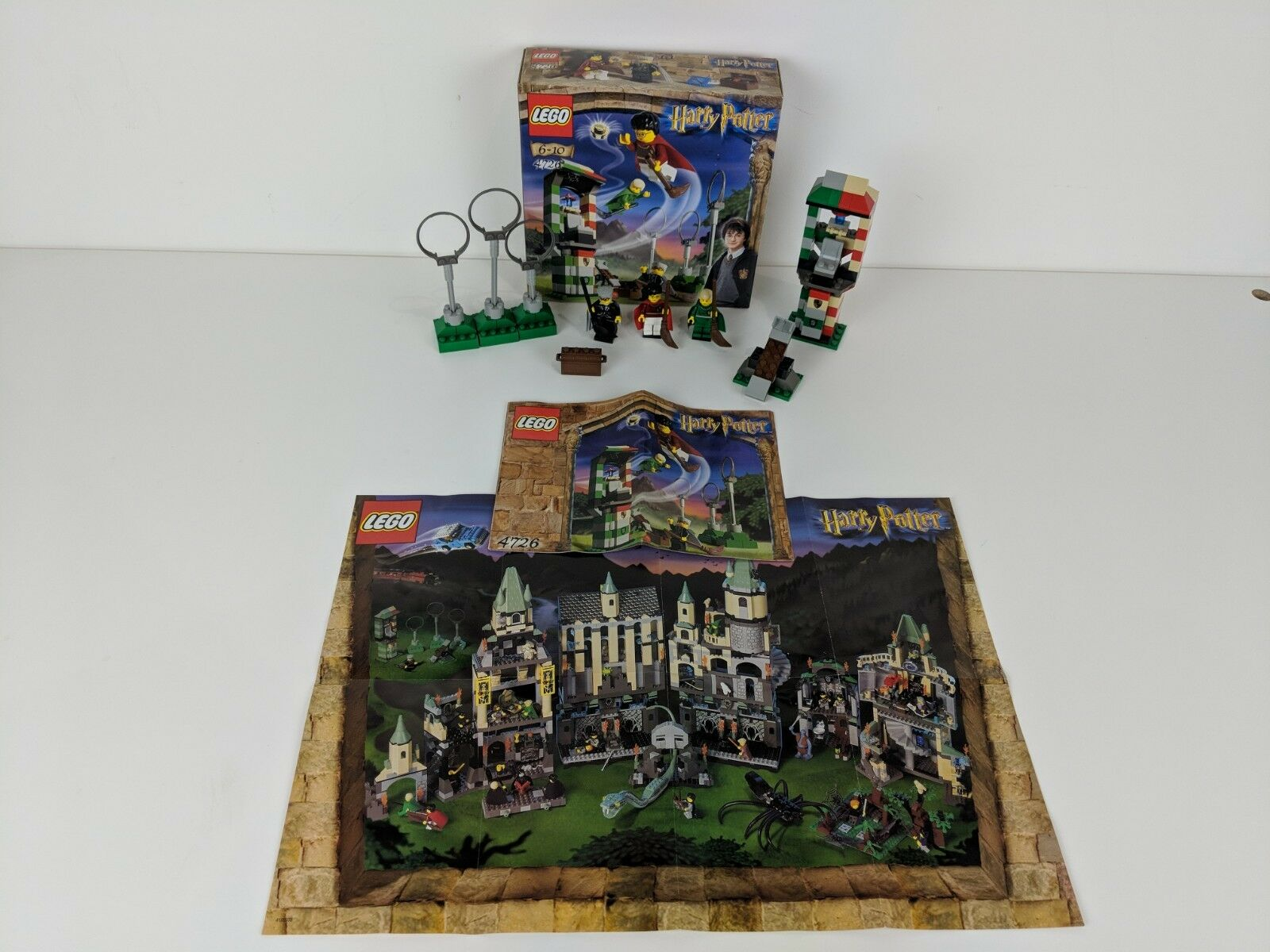 Lego Harry Potter 4726 Quidditch Practice With Minifigures, box  & Instructions