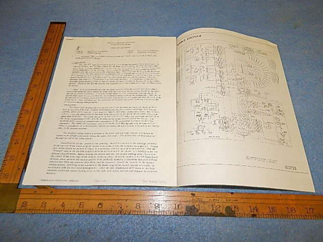 Wurlitzer 2610 Installation Instructions And Schematic