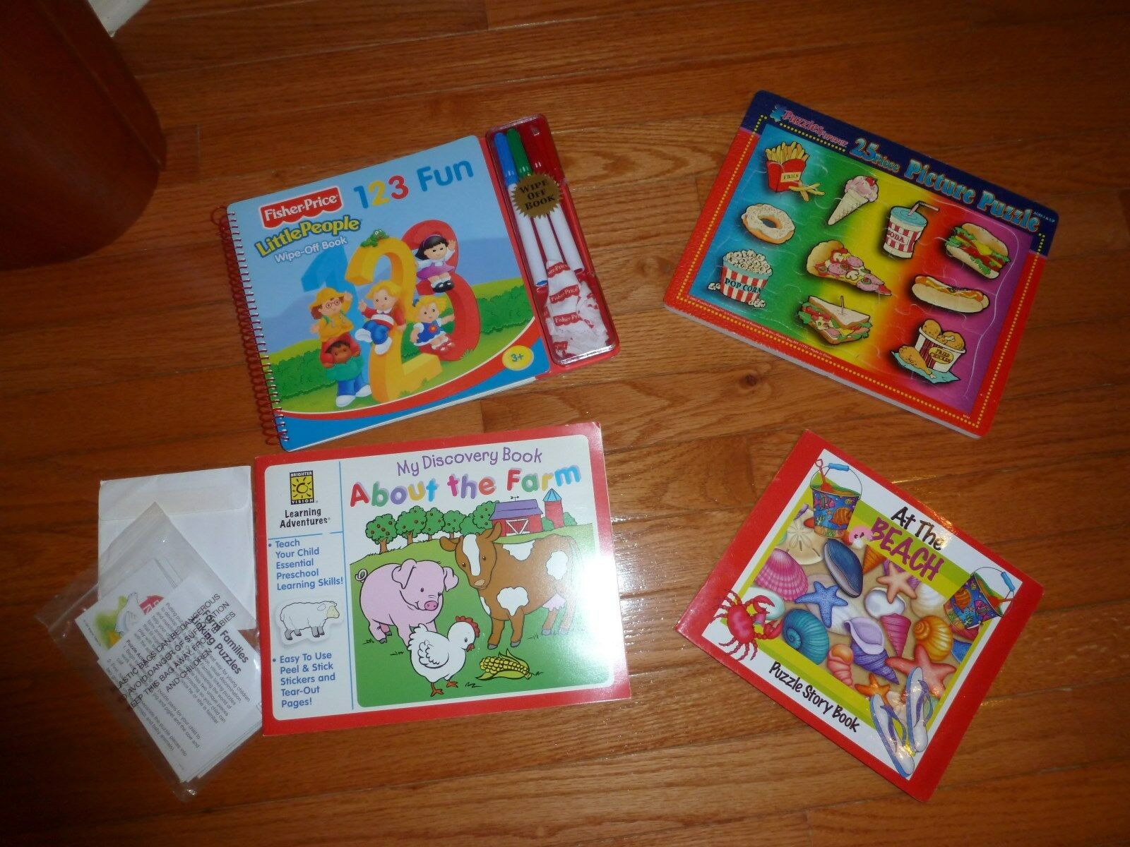 Lot Primary Puzzles Discovery Animals Learning Numbers Books Ages 2 - 6