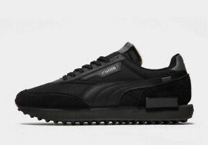 Puma-Future-rider-Ride-On-Triple-Black-Uomo-Sneaker-Nuovo-arrivo-tutte-le-taglie